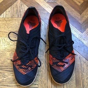 Kids Adidas Black And Red Turf Shoes